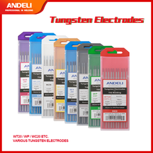 ANDELI Tungsten Electrodes TIG Rods WT20 WP WC20 WY20 WL15 WZ8 WL20 WR20 TIG Electrodes Consumables for TIG Welding Machine
