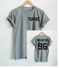 Black White Casual TUPAC SHAKUR 96 Letters Print 2018 Women Harajuku Hipster T Shirt Summer Fashion Short Sleeve Funny Tops Tees