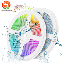 RGB LED Light Strip Bluetooth Waterproof RGB5050 Smart Timing LED Rope Light Strips 44 Key RF Remote Controller 4pin Connector