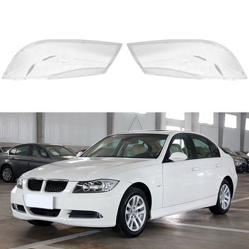 Car Headlight Lens Lampshade Cover Transparent Halogen Headlight Lens Cover Shell For BMW E90 318 320i 325i 330i image