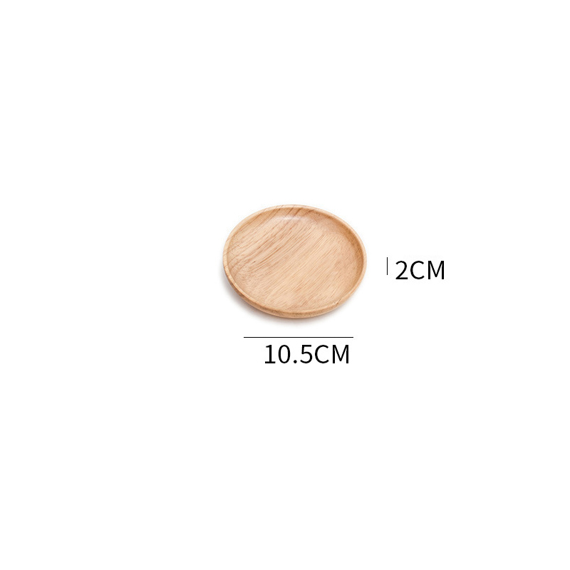 Wooden Round Storage Tray Plate Tea Food Dishe Drink Platter Food Plate Dinner Beef Steak Fruit Snack Tray Home Kitchen Decor - Цвет: 1