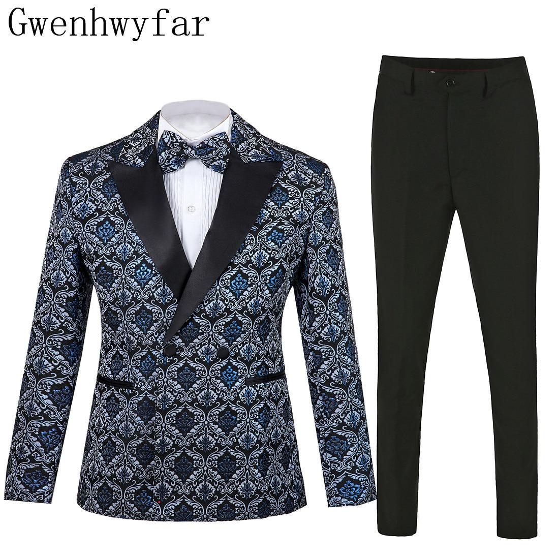 Paisley /& Gray Mens Slim Fit Peak Lapel Jacquard Dinner Jacket