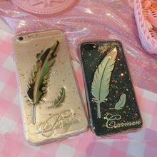 Unique 3D Custom Name Glitter Phone Case For iPhone 11 Pro 6 7 8 Plus X Max XR Samsung Galaxy S20 S8 S9 S10 Note 20 10 9 Ultra