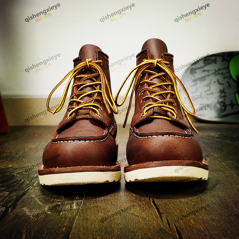 YQ875  Full Size 35-49 Super Quality Genuine Cowhide Leather Handmade Durable Goodyear Rider Boots 3 Colours