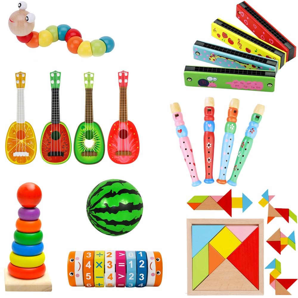 Новинка 2021, игрушечный ксилофон Монтессори, обучающая игрушка, деревянный ксилофон в виде восьми нот с рамкой, детские музыкальные смешные игрушки для детей 3