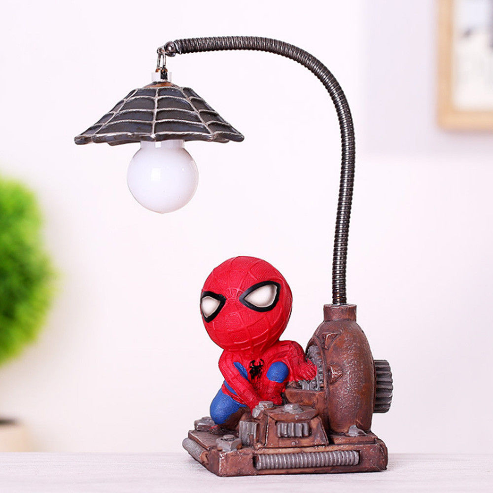 Image 4 - HOT Spiderman Led Night Light Resin Spider Man Lamp for Children Kids Rooms Home Left Decor Birthday Christmas Gifts-in Night Lights from Lights & Lighting