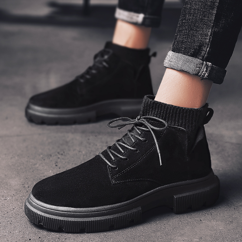 New Arrival Mens Casual Shoes Winter Fashion Ankle Boots Men Suede Faux Boots Male Outwear Solid Martin Shoes Hombre Plus Size