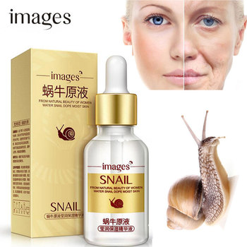 IMAGES Snail Extract Face Serum Essence Anti Wrinkle Hyaluronic Acid Anti Aging Collagen Whitening Moisturizing Face Skin Care vitamin c face whitening serum snail anti aging firming skin repair serum hyaluronic acid moisturizing face essence skin care