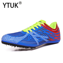 YTUK Track and Field Men Women Training Athletic Shoes Professional Running Track Race Jumping Soft Spike Breathable Sneakers