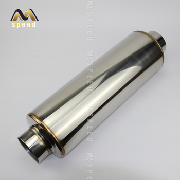 Exhaust pipe middle muffler for auto parts 304 stainless steel mesh small hole muffler exhaust pipe цена 2017