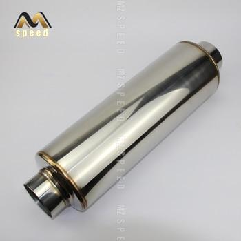 цена Exhaust pipe middle muffler for auto parts 304 stainless steel mesh small hole muffler exhaust pipe онлайн в 2017 году