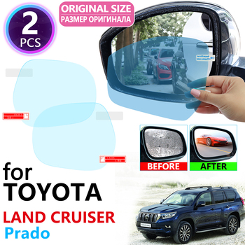 for Toyota Land Cruiser Prado 120 150 J120 J150 2003~2019 Full Cover Rearview Mirror Rainproof Anti Fog Film Accessories 2018 image