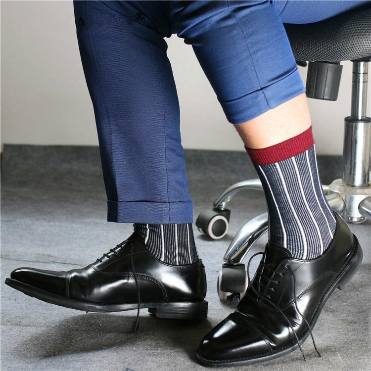 Men's Socks Male Formal Dress Socks Black Socks Men's Business Socks Sexy Men's Dress Socks Breathable Men's Cotton Stripe Socks
