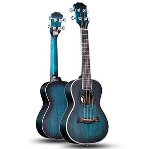 Andrew Ukulele Concert Ukulele 23 Inch 4 Strings Guitar Hawaiian Mahogany Blue Uke Stringed Instrument(China)