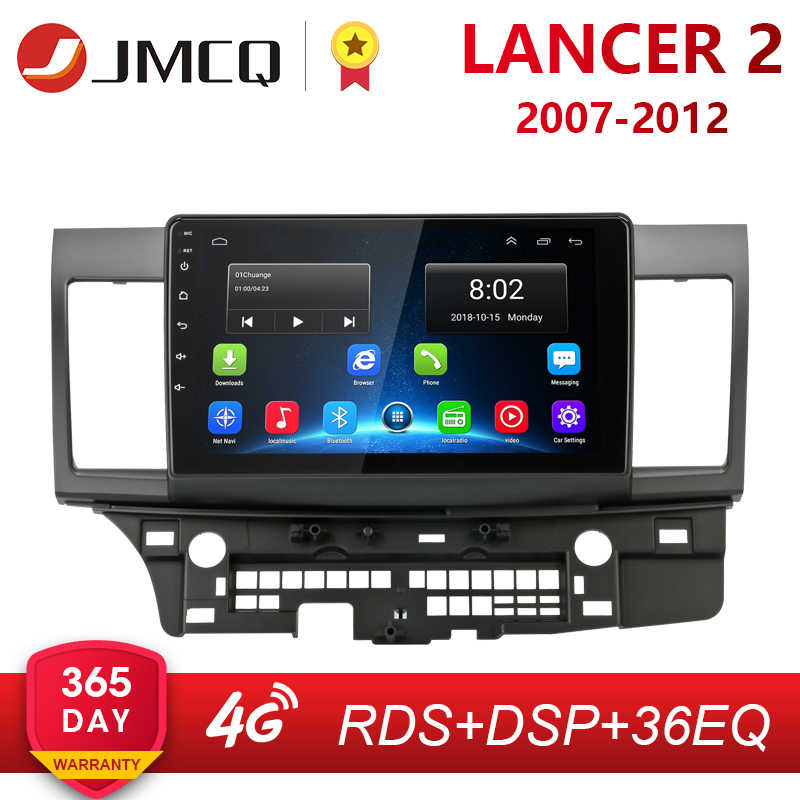 Android 2G + 32G Radio Mobil untuk Mitsubishi Lancer 2007-2012 10 Inch 4G Net + akses Internet Nirkabel RDS DSP Video Audio Multimedia 2 DIN Mobil Dvd Player