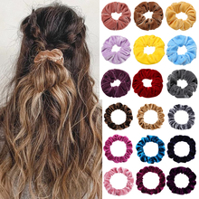 Velvet Scrunchie For Women Girls Candy Scrunchies Set 1/3 PCS/Set Hair Ties Rope Ponytail Hair Accessories Hairbands Gifts
