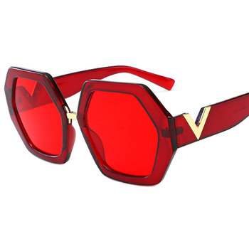2021 Luxury Square Sunglasses Ladies Fashion Glasses Classic Brand Designer Retro Sun Glasses Women Sexy Eyewear Unisex Shades - Red