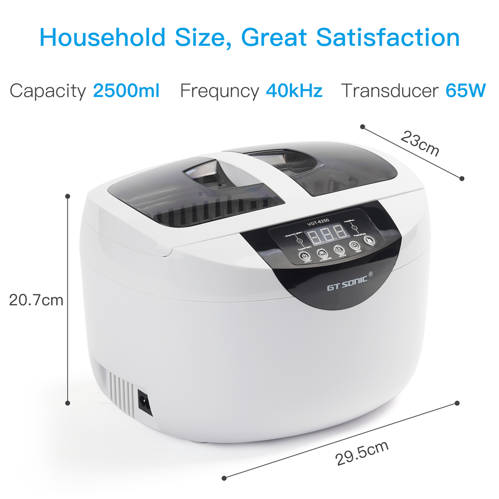 GTSONIC Adjustable Ultrasonic Cleaner Bath For Jewelry Ring And Watches Glasses 41