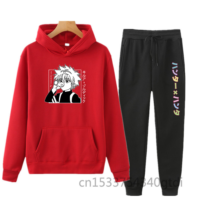 2021 spring new Harajuku cartoon cute funny print Hoodie 2-piece Hoodie suit for sweet girls in autumn and winter