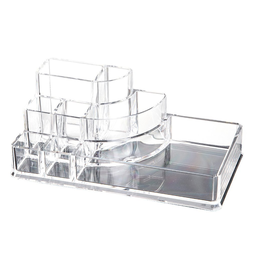 Case Boxes Cosmetic-Storage Display Jewelry Makeup Organizer Acrylic Transparent Drawers title=