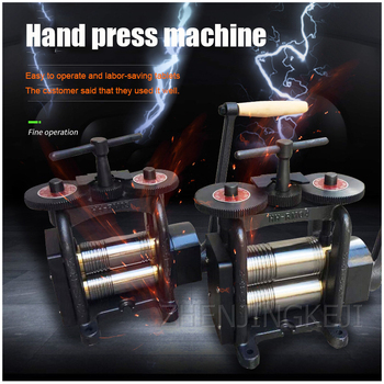 small desktop press machine manual hand crank disc printing punch crimping riveting precision punching machine processing tools Hand Crank Tableting Machine Manual Crimping Machine Gold Silver Copper Jewelry Tablet Pressure Line Semicircle Gold Machine