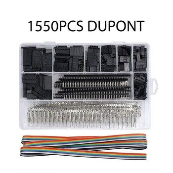 310/620/1450/1550pcs Dupont Fio Jumper Masculino + Feminino E Conector Header Habitação Set Pin kit Terminais nua