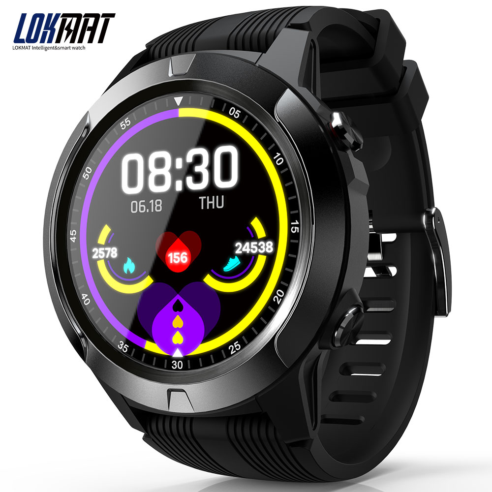 LOKMAT TK04 Smart Watch SMA 1.3inch Screen BT3.0 BT4.0 Waterproof Pedometer Heart Rate Alarm Remote Camera GPS Sports Smartwatch