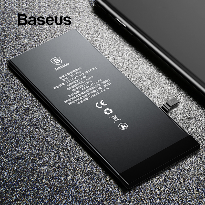 <font><b>Baseus</b></font> Original Phone Battery for <font><b>iPhone</b></font> <font><b>6S</b></font> 6 <font><b>6s</b></font> Plus 7 High Capacity Replacement Lithium Batteries 3500mAh With Free Tools image