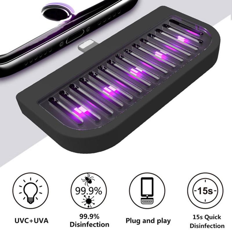 Lámpara de desinfección UV portátil para teléfono, lámpara ultravioleta UVC germicida, luces esterilizantes, utensilios de Cocina