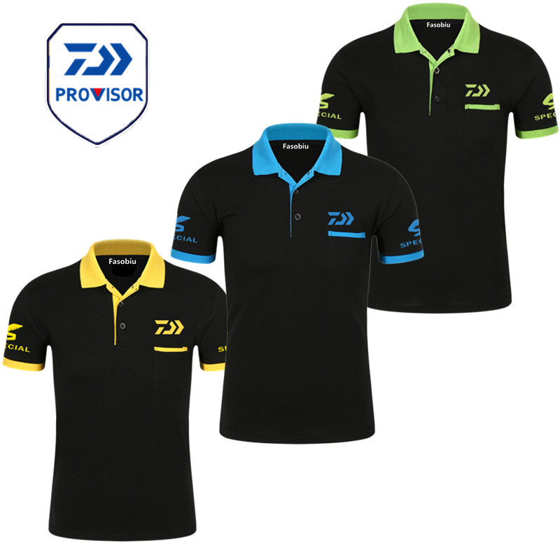 New Daiwa Fishing Clothing Polo Tee Quick Drying Breathable Outdoor Sports Men Tshirt Fishing Short Sleeve Top Fishing T-Shirt
