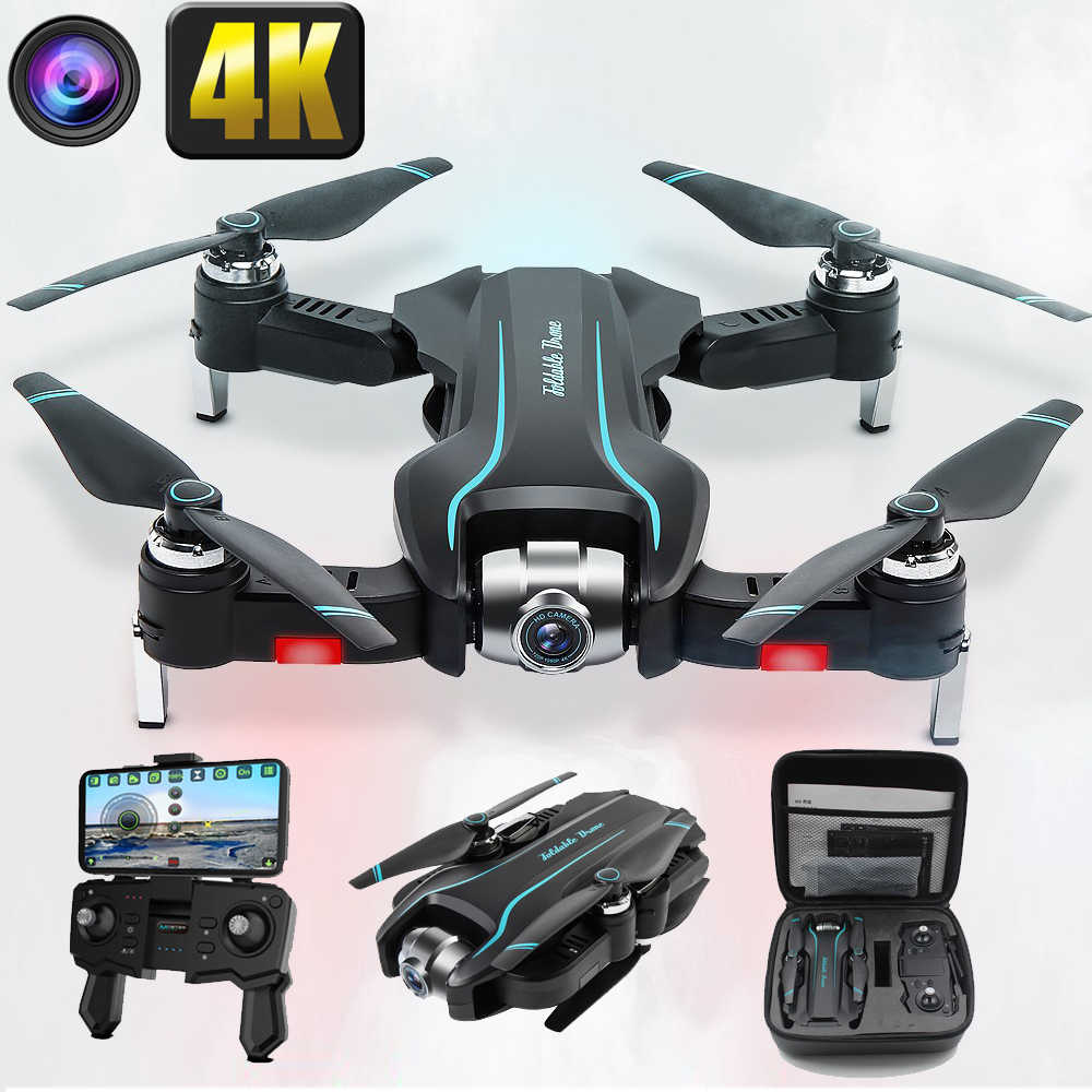 Drone 4K HD 1080P Wifi Drone FPV Tinggi Perawatan Quadcopter Fixed-Point Surround RC Helicopter Drone kamera Drone S17