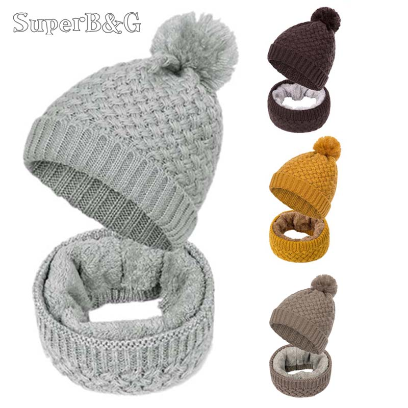 Fashion Winter Scarf Women Scarf Unisex Winter Knitted Scarves Plus Velvet Cotton Neck Warmer Woman Crochet Ring Men Loop Scarf  car seat