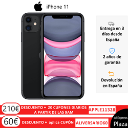 Apple iPhone 11 (64GB ROM, 4GB RAM, Negro, Pantalla 6,1