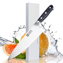 SUNNECKO 8 inch Chef Knife Kitchen Knives Liquid Metal Steel 65HRC Strong Hardness G10 Handle High Quality Meat Cut Tools