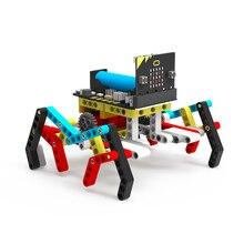 цена на Program Intelligent Robot Kit Steam Programming Education Building Block Spider for Micro:bit(Including Micro:bit Board)