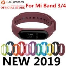 Mijobs for Xiaomi Mi Band 3 4 Sport Strap watch Silicone wrist strap For xiaomi mi band bracelet Miband