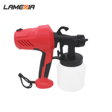 LAMEZIA High Power 220V Electric PaintSprayer Household Paint Spray Gun Easy Spraying Auto Furniture Steel Coating Airbrush