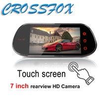 7 дюймов сенсорный экран Экран 1080p Видеорегистраторы для автомобилей