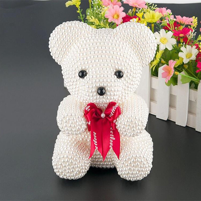 40CM Rose Flower Bear Teddy Toy Simulation Toy for Valentine/'s Day Gift 16Inch