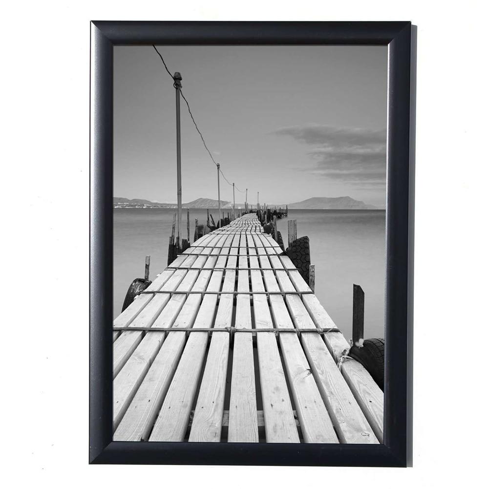 Black Simulation Wood Table Photo Frame Picture A4 Frame Complete Frame With Glass Hardboard Back COLOR - BLACK
