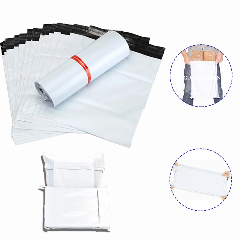 50pcs/Lot Opaque High Quality Pe Plastic Express Envelope Storage Bags White Color Mailing Bags Self Adhesive Seal Courier Bag