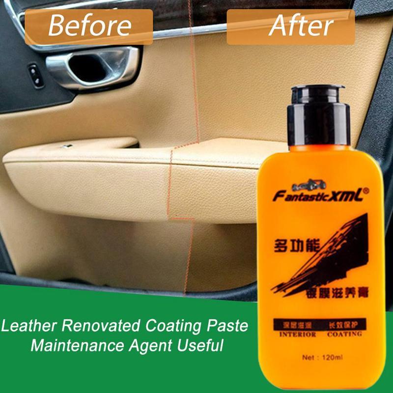 Renovating Coating Paste Auto Leather  Decontamination Maintenance Agent Car Seat Center Console Leather Coating paste