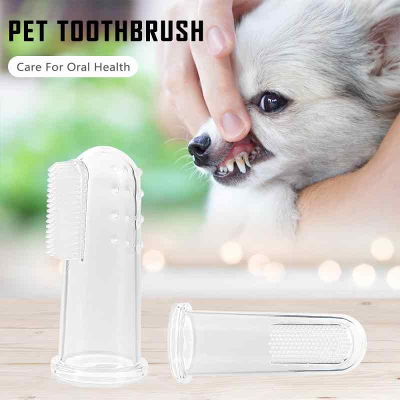 1Pcs Zachte Vinger Tandenborstel Hond Cleaning Tanden Care Hygiëne Borstel Huisdieren Kat Cleaning Huisdieren Levert Dropshipping