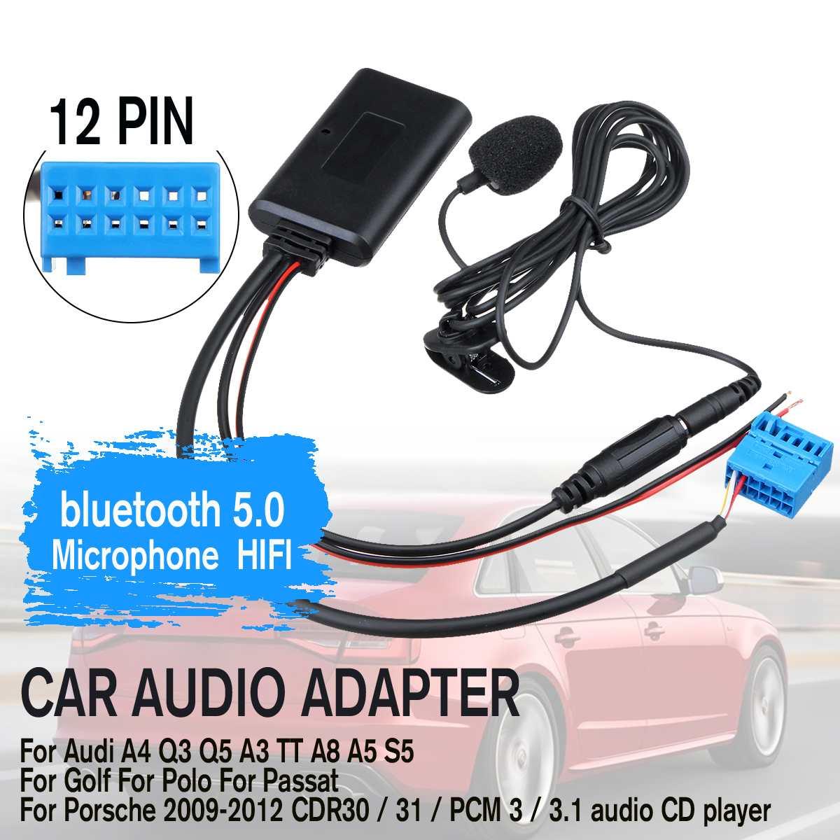 HIFI беспроводная передача музыки автомобильный аудио bluetooth кабель адаптер микрофон для Audi A4 Q3 Q5 A3 TT A8 A5|Автомобильный комплект Bluetooth|   | АлиЭкспресс