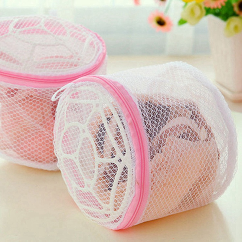 Lingerie Storage Bag Underwear Bra Sock Laundry Washing Aid Net Mesh Zip Bag Rose Household Woman Lady Bra Washing Holder