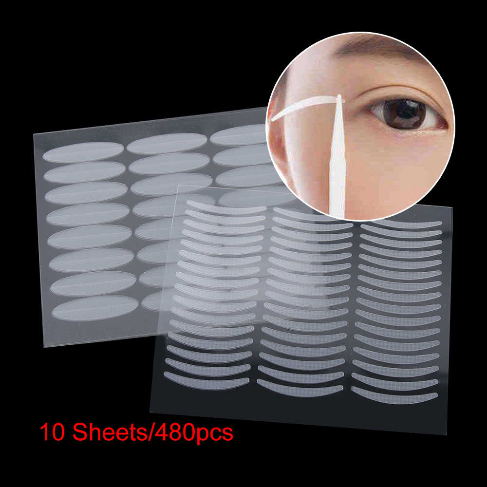 480PCS Invisible Eyelid Sticker Breathable Fiber Double Side Adhesive Transparent Eyelift Eye Makeup Accessories Tool durable