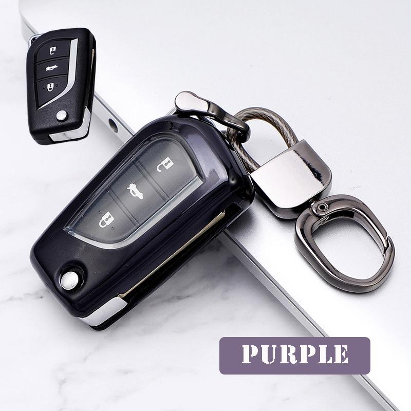 ТПУ чехол для ключей автомобиля полное покрытие защитный toyota