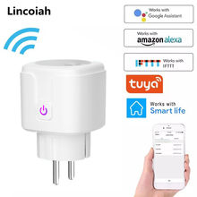 WiFi Smart Plug EU US UK Adaptor Wireless Remote Voice Control Power Energy Monitor Outlet Timer Socket for Alexa Google Home(China)