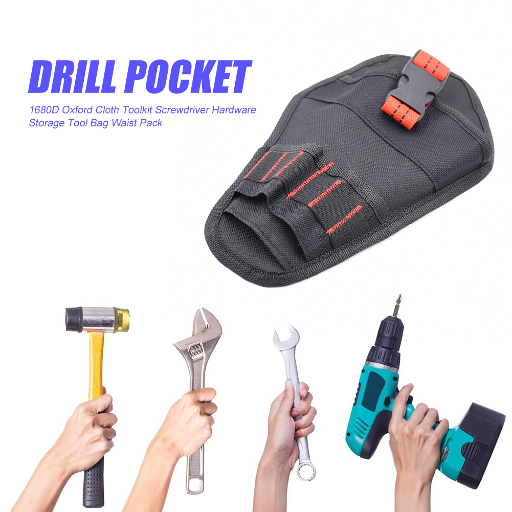 Multi-function Oxford Cloth Storage Tool Bag Classic Colors And Simple Durable Design Toolkit Hardware Drill Waist Pack