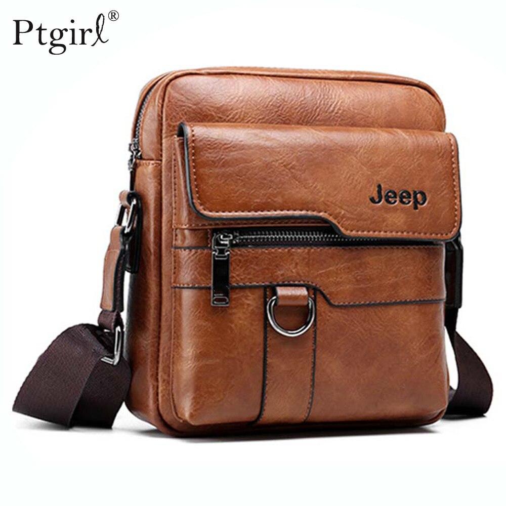 Jeep Luxury Brand Men Messenger Bag Crossbody Business Casual Handbag Ptgirl Large Capacity Shoulder сумка для ноутбука кожанная